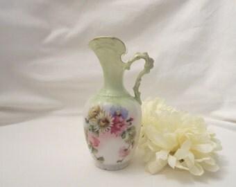 Vintage Floral 4 inch Pitcher