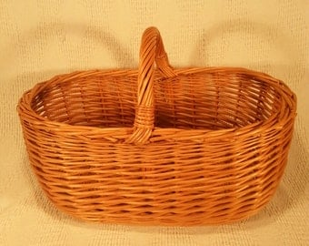 Wicker shopping basket 024