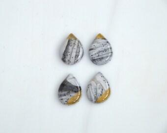 One of a kind tear drop earrings/ stud earrings / handmade earrings/ everyday earrings