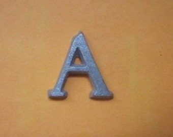 Cast Aluminum Metal Letter A pick your size Century Font