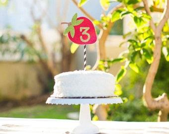 Strawberry Farm stand Cake Topper
