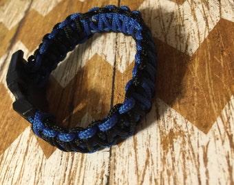 Thin Blue Line Paracord Bracelets