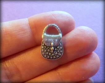 10 Antique Silver Purse Charms - MISC-PURSE