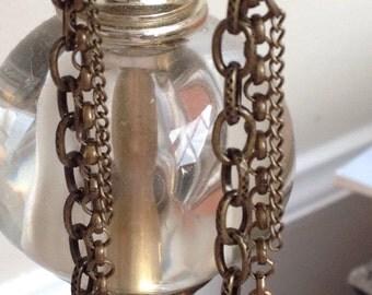 Bronze chain earings