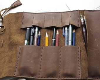 PDF Pattern leather pencil bag case template leather handmade