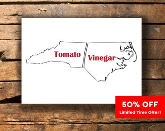 NC BBQ Barbecue Printable [Instant Download] North Carolina
