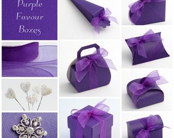 Cadbury Purple Favour Boxes