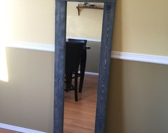 Custom Full Length Greywash Mirror