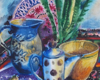 still life, original watercolor paintings