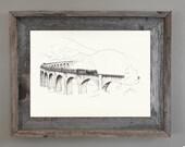 Harry Potter Art Print, Travel Art Wall Decor: Glennfinnan Viaduct Print