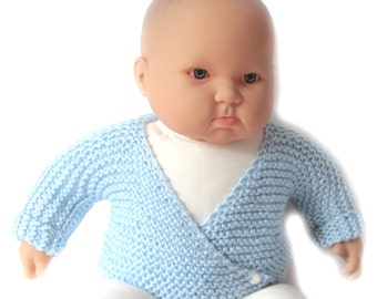 KSS New Handmade Light Blue Wrap Sweater (6-9 Months) SW-224