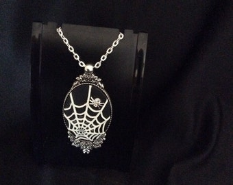 Caught in a web necklace