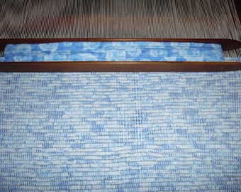 Handwoven Rug made on 100 year old loom Denim Look, Reversible, Durable Washable