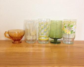 Assorted Vintage Glasses