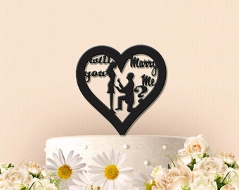 Will You Marry Me? Cake topper or Cupcake