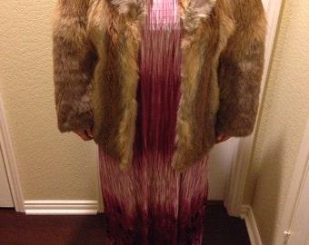 RARE Voula Mitsakou Fox Fur Coat