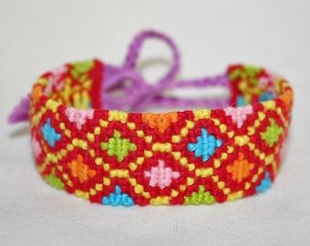 Colorful Diamond Pattern Friendship Bracelet