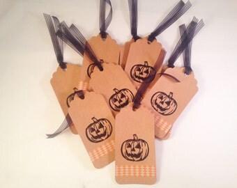 Halloween Jack O' Lantern Gift Tags