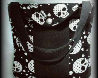 Skull Patchwork Handbag