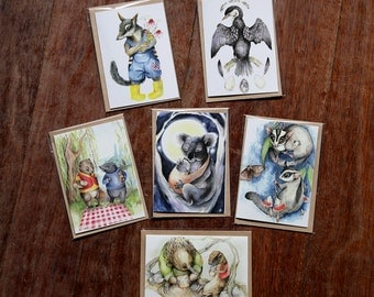 Anna Seed Illustration- Greeting Card Pack- Handmade in Australia