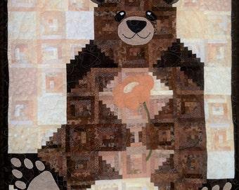 Teddy Bear Quilt, Baby Quilt, Baby Blanket, Baby Shower Gift