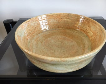 Salad Bowl / Salad Server / Large Ceramic Serving Bowl