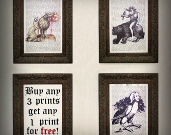 SALE! Buy any 3 prints - get any 1 print for FREE, Witch, Dark, Gothic, Occult, Witchcraft, Magic, Medieval, Devil, Pagan, Wicca, Ritual
