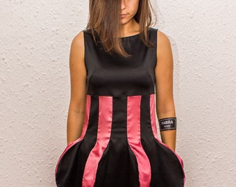 Extravagant Party Dress With O-Back/Deconstructed Sleeveless Dress With Decoration/Deconstructed Clothing by FabraModaStudio/FAB120