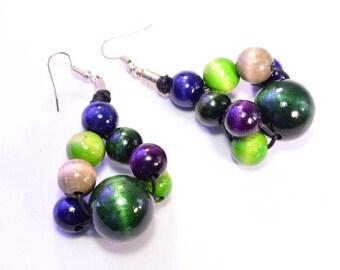 wooden earrings fairytale
