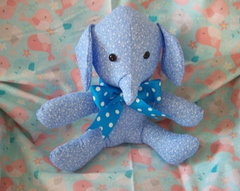 10 in Blue Elephant stuffed animal