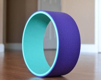 """12"""" Yoga Wheel-Teal&Purple"""