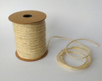HEMP ROPE Jute String Decorative Craft Cord 10 Meters Natural