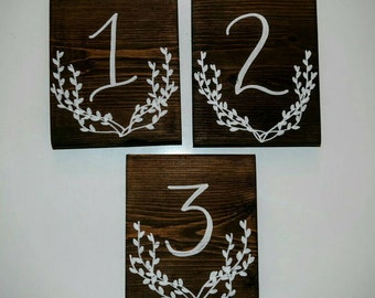 Table Numbers, Wooden Table Numbers, Wedding Table Numbers