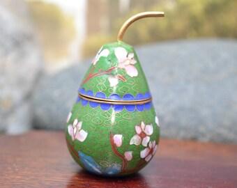 Chinese Cloissone  Pear Shaped Box
