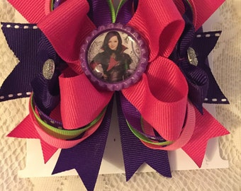 Descendants Stacked  Boutique hair bow.