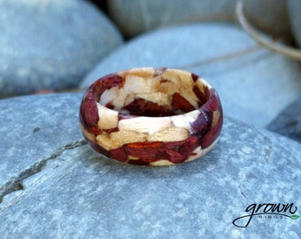 Wooden Ring - Purpleheart, Maple and Bloodwood