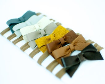 Leather Jemma Bows