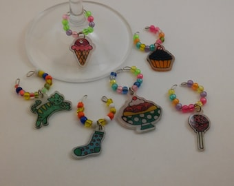 Shrinky Dink Wine Charms