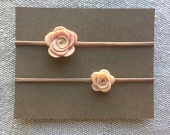 Mini rose headband