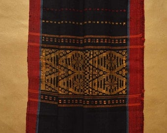 Bandarban Scarf - Black with Red border #1