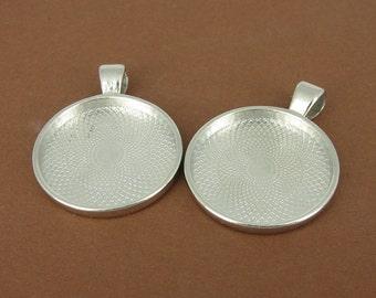 2 pieces platinfarbene frame - round, 25mm