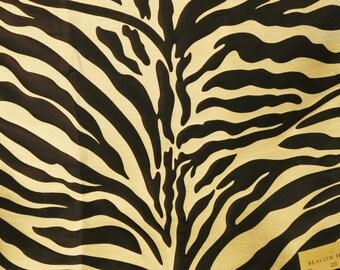 BEACON HILL Kawa Zebra Jacquard Silk Fabric 5 Yards Black