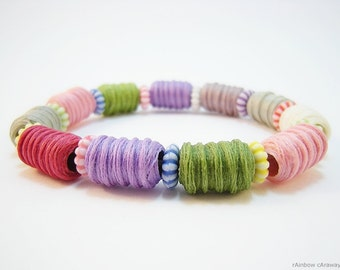 Candy Bracelet made from upcycling yarn pearls
