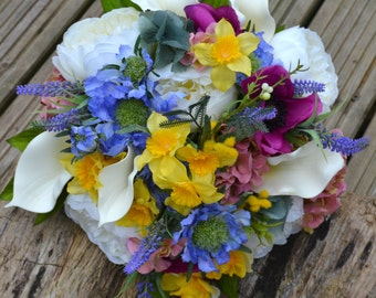 Wedding , Bridal posy bouquet, spring, Summer flowers