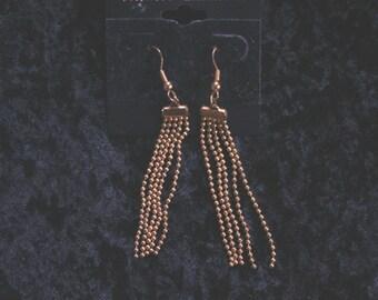 Golden tassle earrings