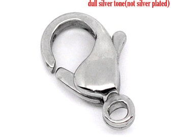 Stainless Steel Lobster Clasps (12mm x 7mm)