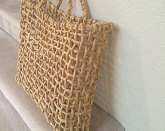 Rio de Janeiro Basket Weave Satchel Bag