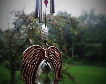 Remember Me Memorial sun catcher wind chime gift after loss memoral garden custom gift in