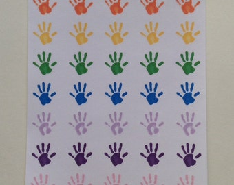 Play date/Hand print  stickers
