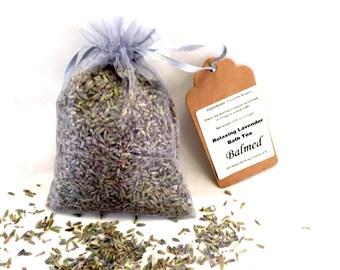 lavender bath tea, relaxing soothing bath soak
